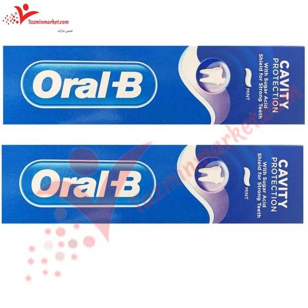 خمیر دندان اورال بی مدل ضد پوسیدگی اورال بی 100 میل cavity toothpaste قیمت خمیردندان اورال بی