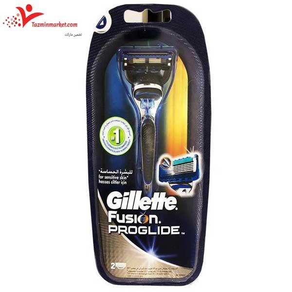 قیمت و خرید دستگاه ژیلت فیوژن پروگلاید همراه یدک اضافه gillette fusion proglide
